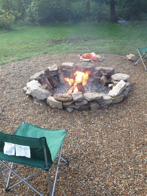 Natural Stone Fire Pit Fire Pits Boston Rock Firepit