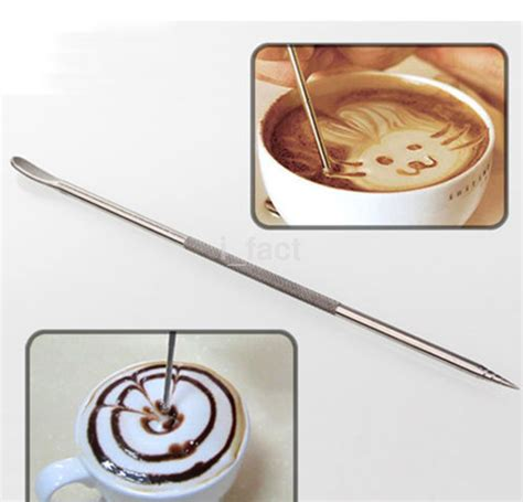 Latte Pen Needle stainless steel coffee pen fancy needle latte cappuccino machine cafe tool cad 1 40