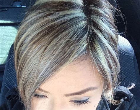 gray dark dark low lights foils color to camouflage gray hair google search projects