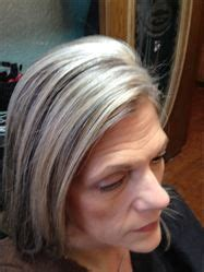 how to color hair to blend in gray grey hair hilight blend my work pinterest grey hair