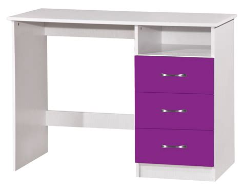 Purple High Gloss Bedroom Furniture Marina High Gloss 2 Drawer Dressing Table Purple White 4693138419316 Ebay