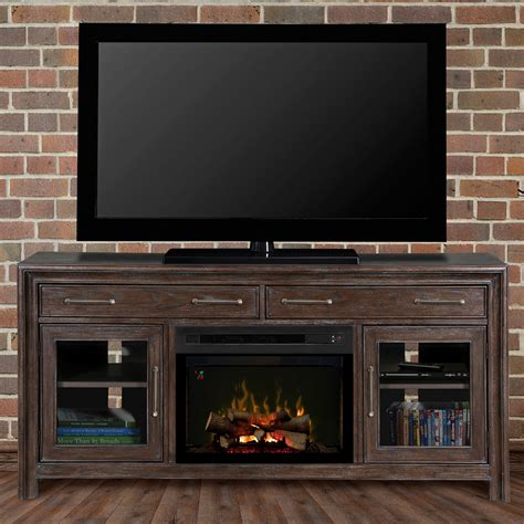 woolbrook distressed nutmeg electric fireplace media