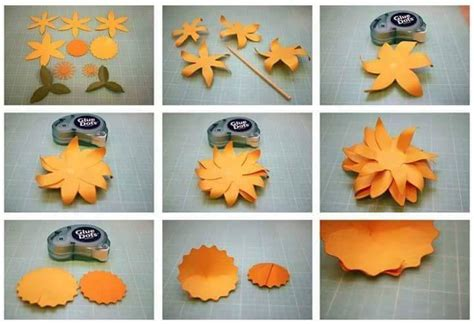 Flower In Paper By Step By Step - diy beautiful paper flower step by step craft ideas