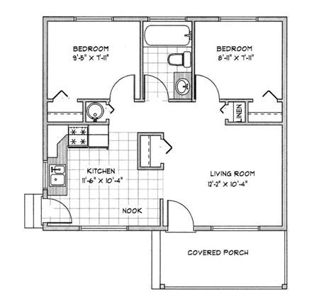 House plan under 1000 sq ft   Home design and style