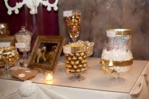 Gold Buffet Table A Gold And White Candy Buffet