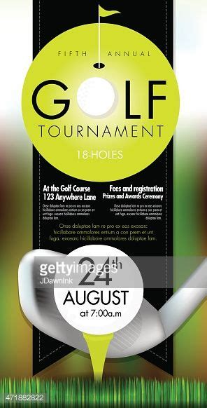 vector illustration  golf tournament invitation layout