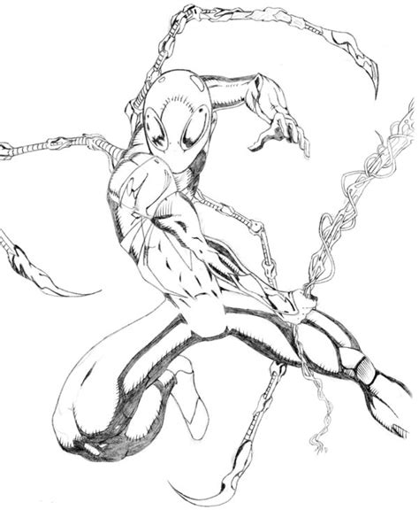 coloring pages of iron spider gallery for gt iron spider drawings