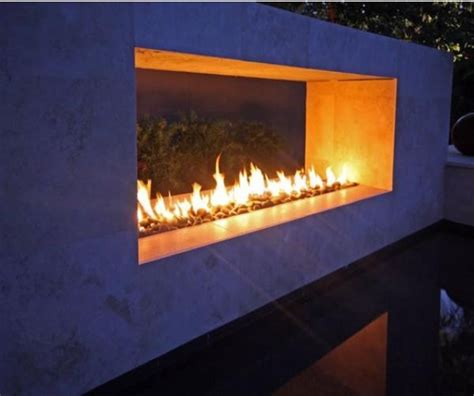 linear outdoor gas fireplace image gallery outdoor linear fireplace