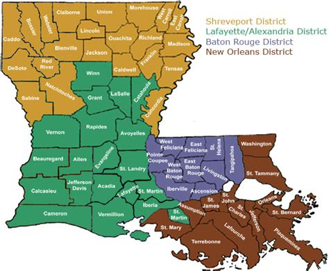 louisiana district map louisiana office of state marshal