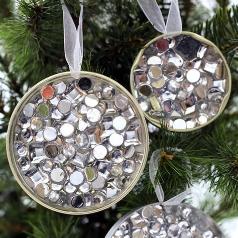 recycling ornament school prjuect ideas rhinestone recycled ornament family crafts
