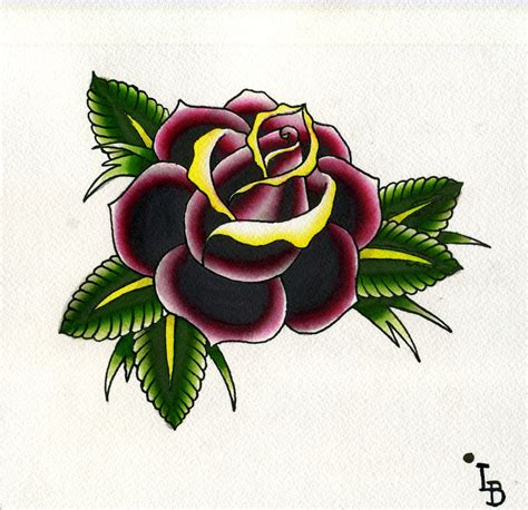 old school tattoo watercolor traditional roses traditional rose watercolor by