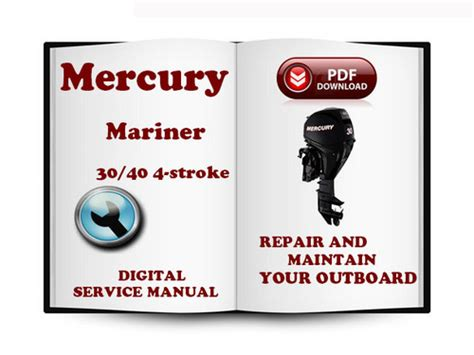 small engine repair manuals free download 2001 mercury sable engine control mercury mariner outboard 30 40 hp 4 stroke 1999 service repair manu