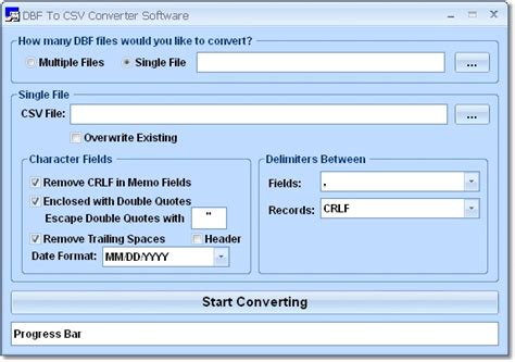 csv format escape comma dbf to csv converter software