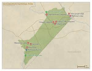 gonarezhou np map detailed map of gonarezhou national park