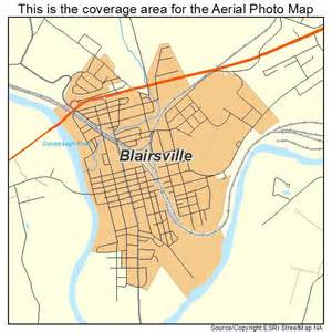 aerial photography map of blairsville pa pennsylvania