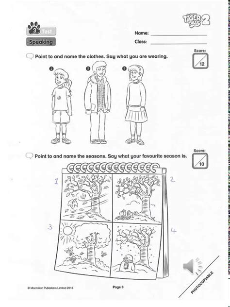 tiger tales 2 primary tiger tales 2 speaking test youtube
