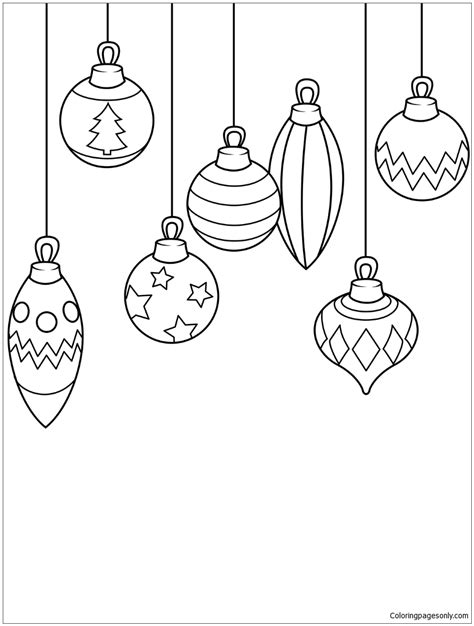 christmas ornaments coloring page free coloring pages online