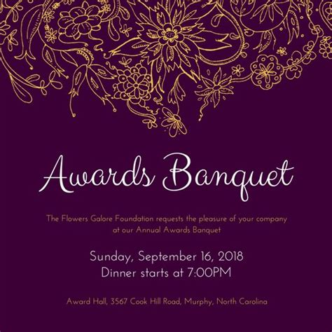 Customize 71 Banquet Invitation Templates Online Canva Banquet Website Templates Free