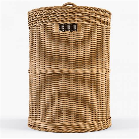 Wicker Laundry Basket 02 3d Model Cgstudio Wicker Laundry