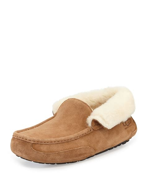 uggs slippers for ugg grantt mens suede slipper in brown for chestnut