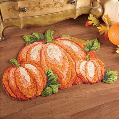 Fall Kitchen Rugs by Fall Pumpkin Patch Accent Rug From Collections Etc