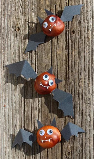 fun fall crafts chestnuts halloween decorations  craft