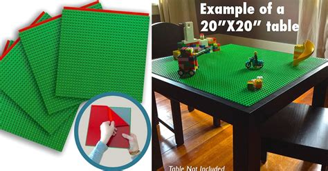 diy lego table adhesive peel stick building block plates diy lego table mylitter one deal at a time