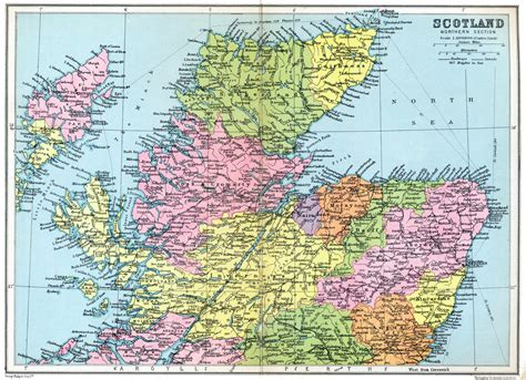sectioned scotland map of scotland northern section 1936 jpg jpeg image