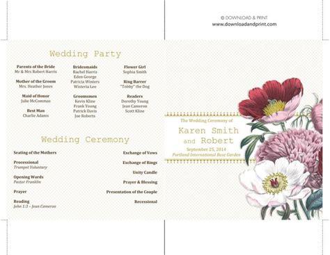 37 Printable Wedding Program Exles Templates Template Lab Program Templates