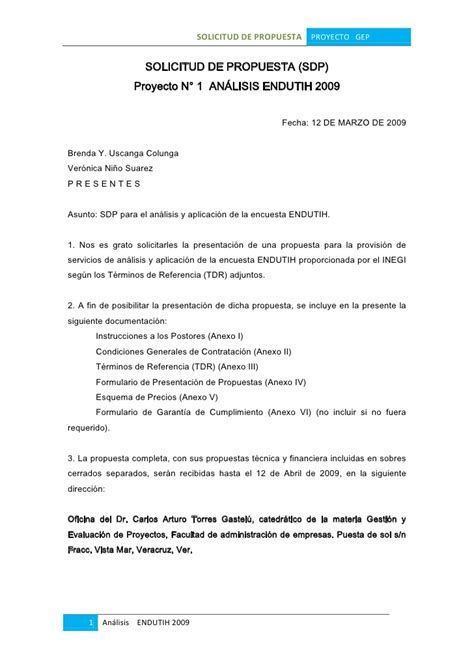 carta compromiso de la propuesta economica solicitud de propuesta