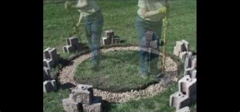 How to Build a fire pit out of cinder blocks