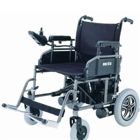 folding power wheelchair merits health travel ease folding power chair heavy duty