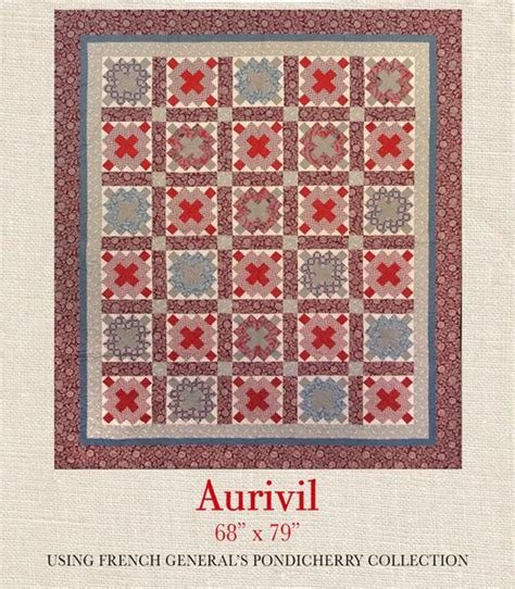 pattern blocks french pondicherry arivil quilt pattern french general