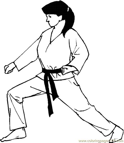 coloring pages boxing judo karate coloring page 04 sports