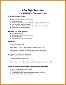 ap style template 10 apa outline template coaching resume
