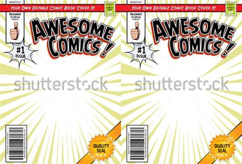 comic book cover template 23 beautiful book cover templates free sle exle