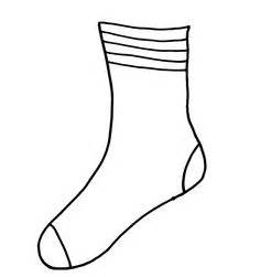 fox in socks coloring page sock template clipart best