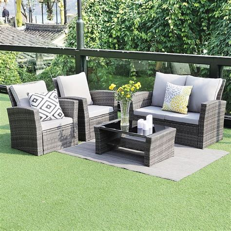 wisteria lane  piece outdoor patio furniture sets wicker