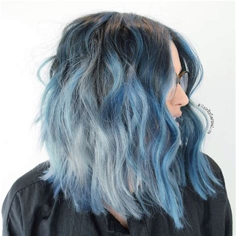 black color hairstyles tumblr tumblr blue ombre hair www pixshark com images