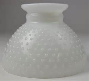 vintage milk glass hobnail hurricane l shade 5 625 t
