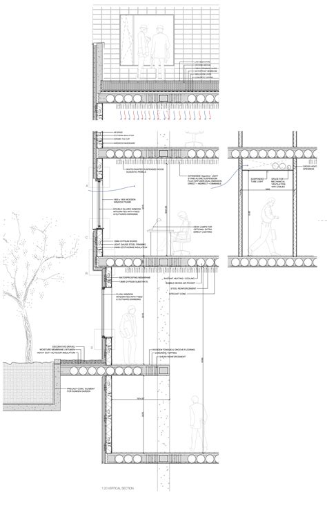 section of building plan generic office building 171 linowska com