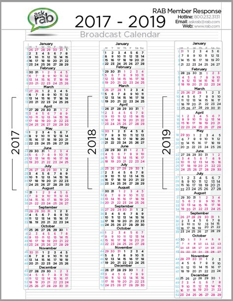printable calendar q4 2017 2018 broadcast calendar with holidays 2018 calendar with