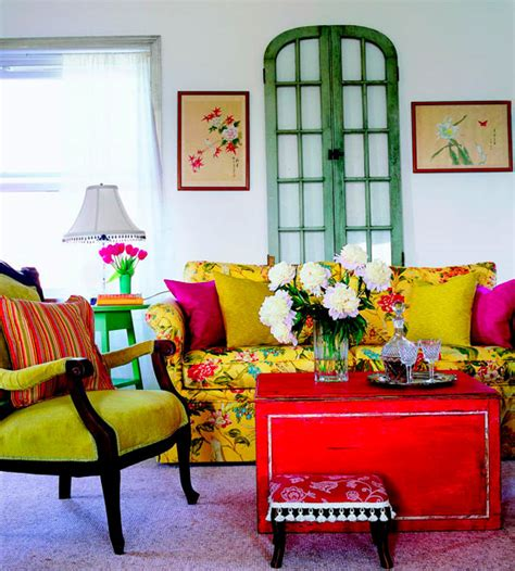 50 interior design ideas for colorful living rooms
