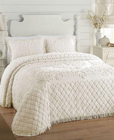 Josephine Chenille QUEEN Bedspread White   eBay
