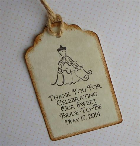thank you tags for bridal shower favors bridal shower favor tags 99 wedding ideas