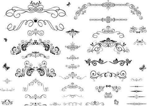 decorative ornaments decorative ornament vector free vector 19 890