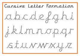 cursive alphabet posters and cursive formation practice by