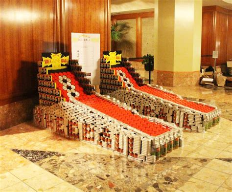 how to build a canned food sculpture quot canstruction quot 2015 canned food sculptures sf