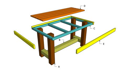 Wooden Table Plans Free Outdoor Plans Diy Shed Wooden Wooden Patio Table Plans