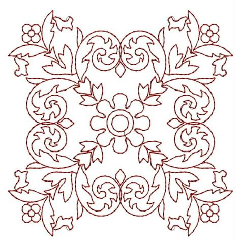embroidery design outline embroidery digitizing redwork outline block embroidery
